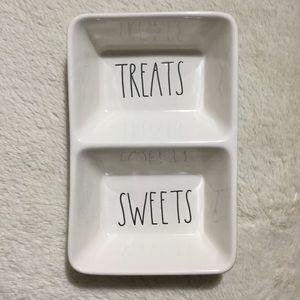Rae Dunn SWEETS TREATS Double Dish Tray Candy NEW